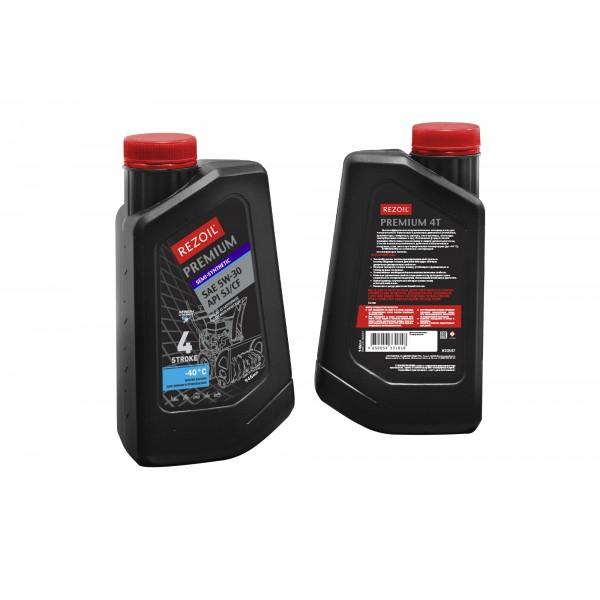 Rezoil PREMIUM 4T Полусинтетическое моторное масло для четырехтактных двигателей SAE 5W-30, API SJ/CF