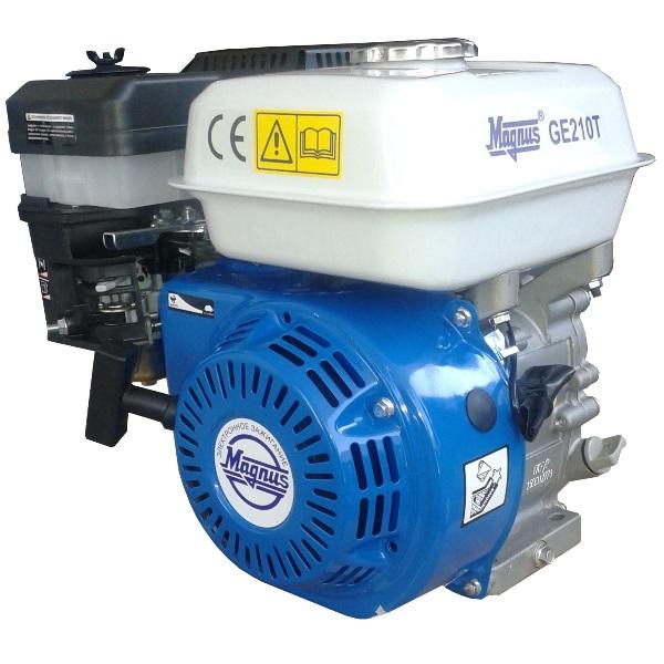 Двигатель бензиновый Magnus GE210S, 7,5/9,0л.с. вал 19мм, шпонка