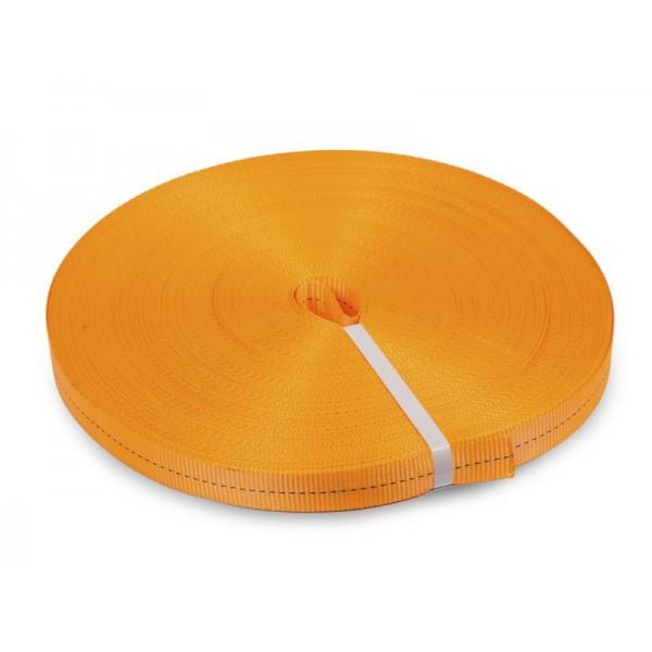 Лента текстильная для ремней TOR 35 мм 3000 кг (оранжевый)
