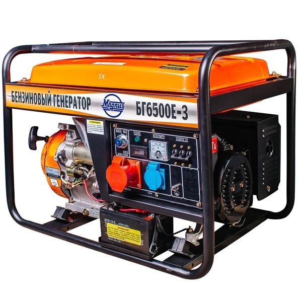 Генератор бензиновый Magnus БГ6500Е-3