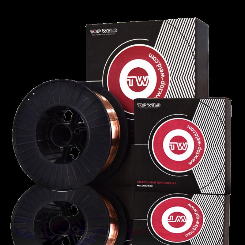 Проволока сварочная омедненная TW CWW-50 (ER70S-6 / D200 / d0,8 / 5 кг)